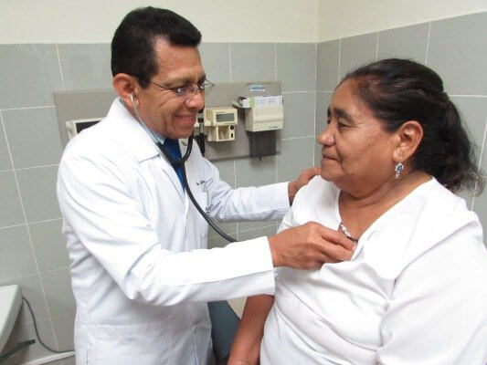 Dr Quijano and Patient