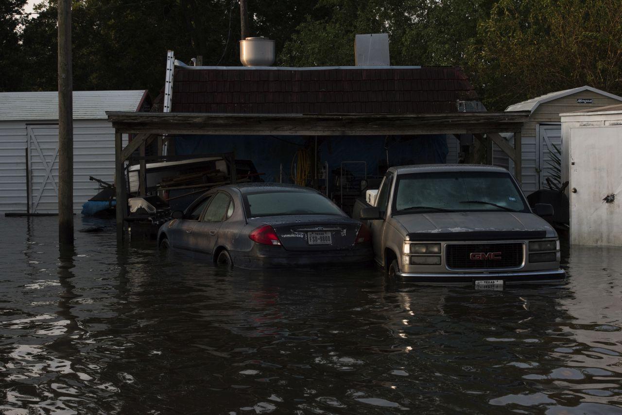 Flood photo of cars underwater