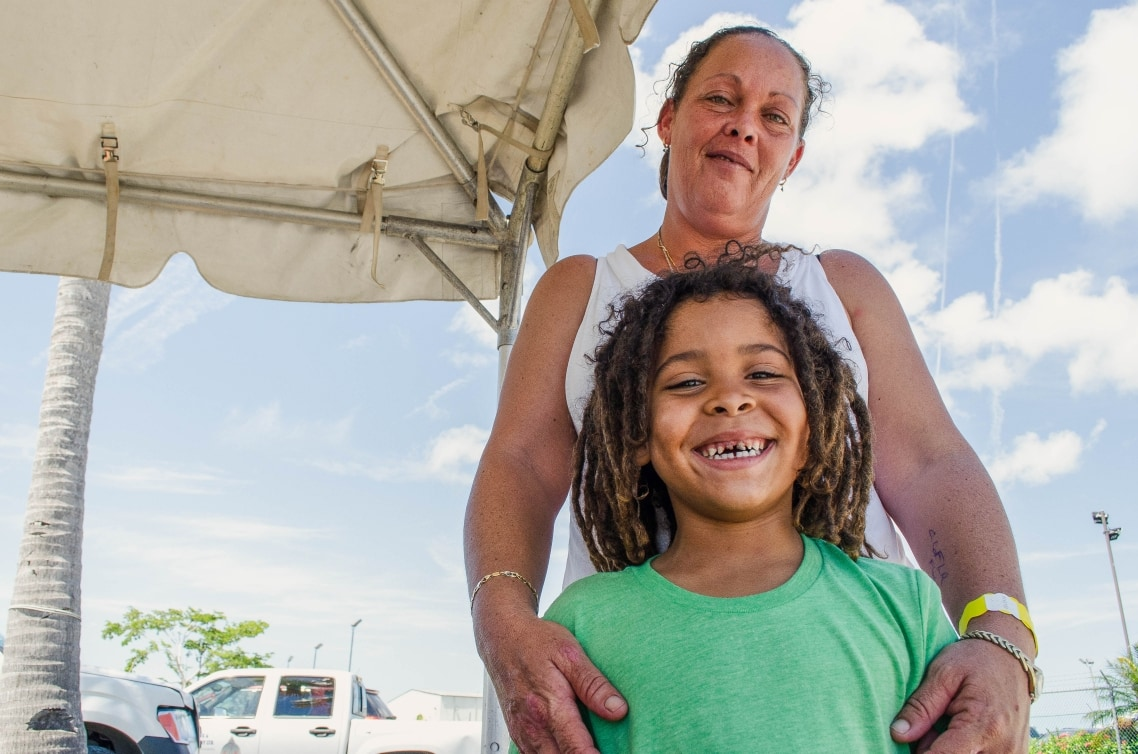 Mother and son receive medical care in Hope Town