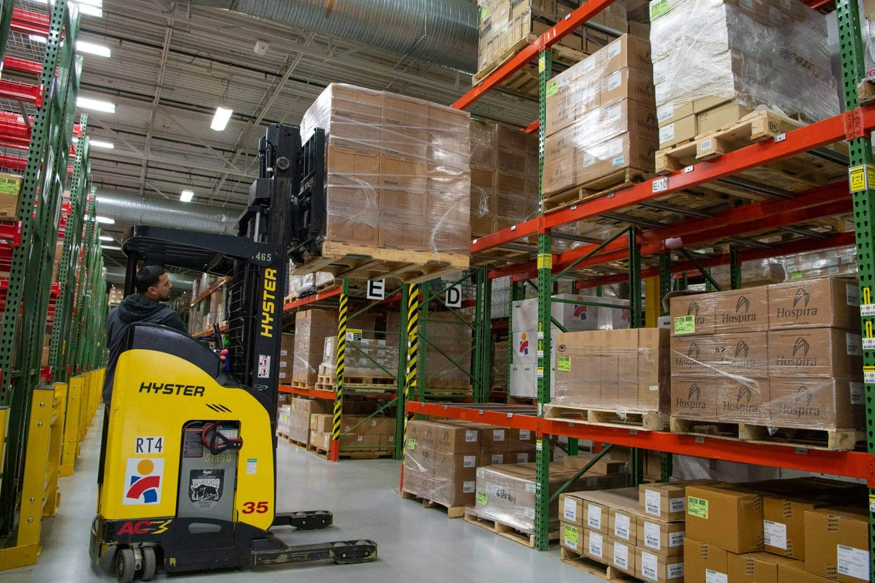 Workers at Americares distribution center in Stamford, Conn., prepare a shipment of life-saving medicine to help families in war-torn Syria. Photo by Chris Williams/Americares