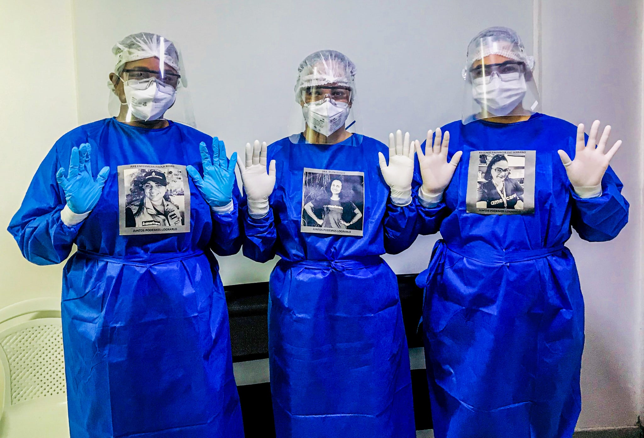 Americares Magdalena clinic staff in protective gear during COVID pandemic