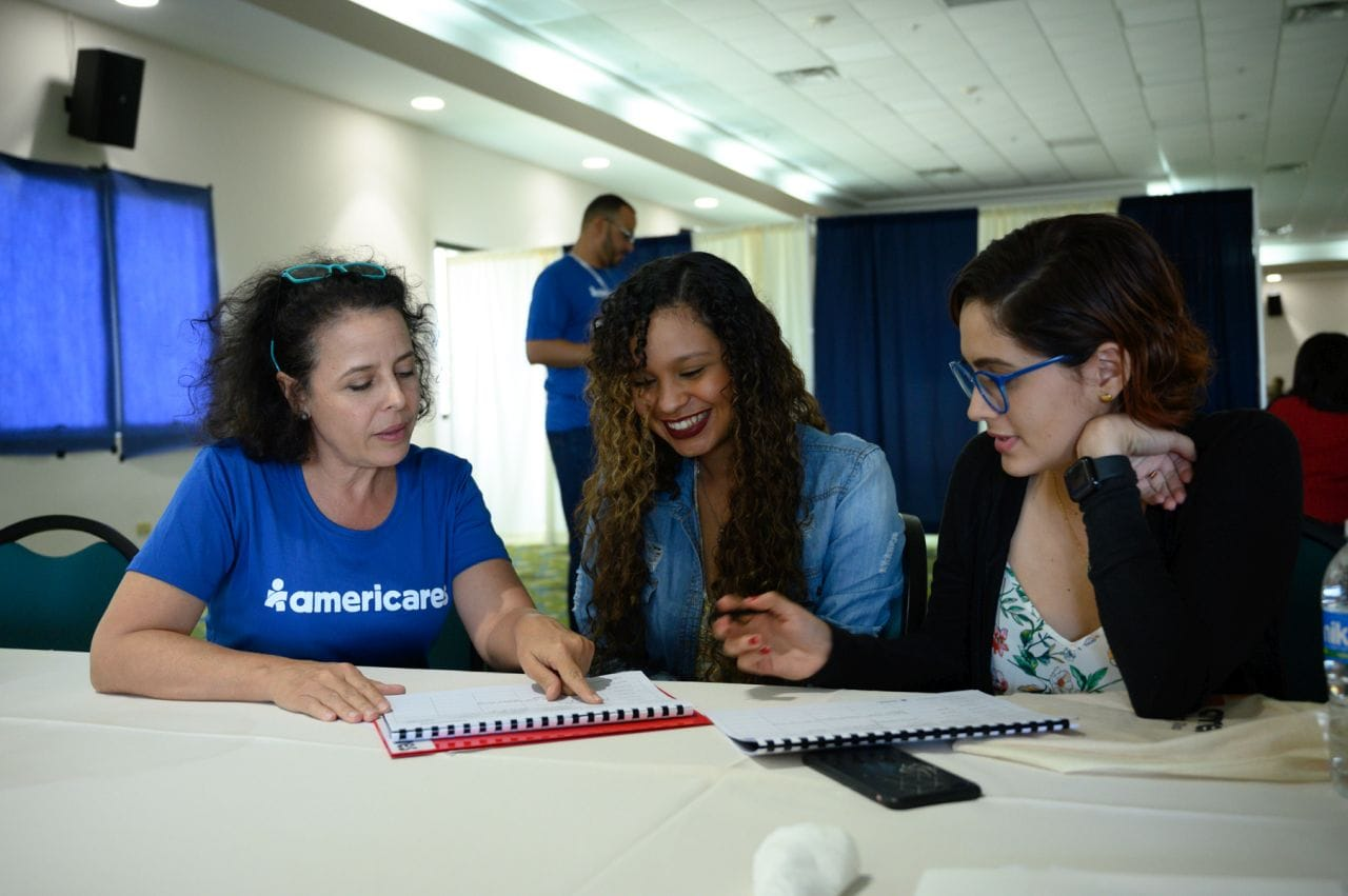 Americares holds a training for health workers in Barceloneta, Puerto Rico, to better cope with stress and trauma.