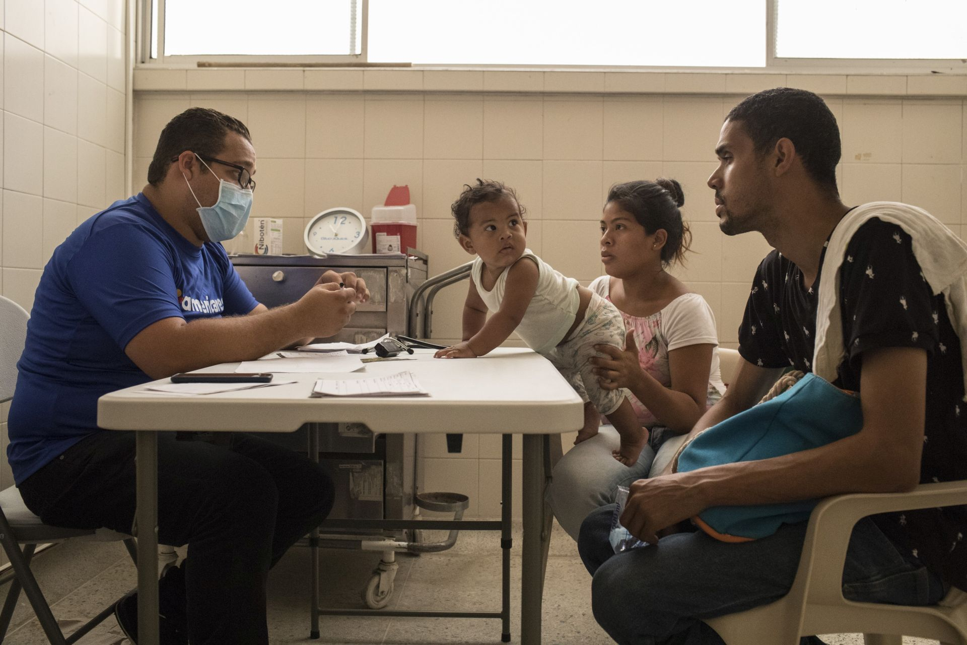 Venezuelan patients at Americares clinic in Colombia
