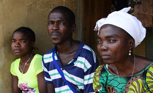 Three Ebola survivors from one community.