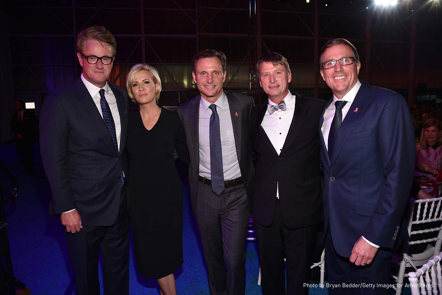 Joe Scarborough, Mika Brzezinski, Tony Goldwyn, Jonathan Bush Jr. and Americares President and CEO Michael J. Nyenhuis at the 2017 Americares Airlift Benefit.