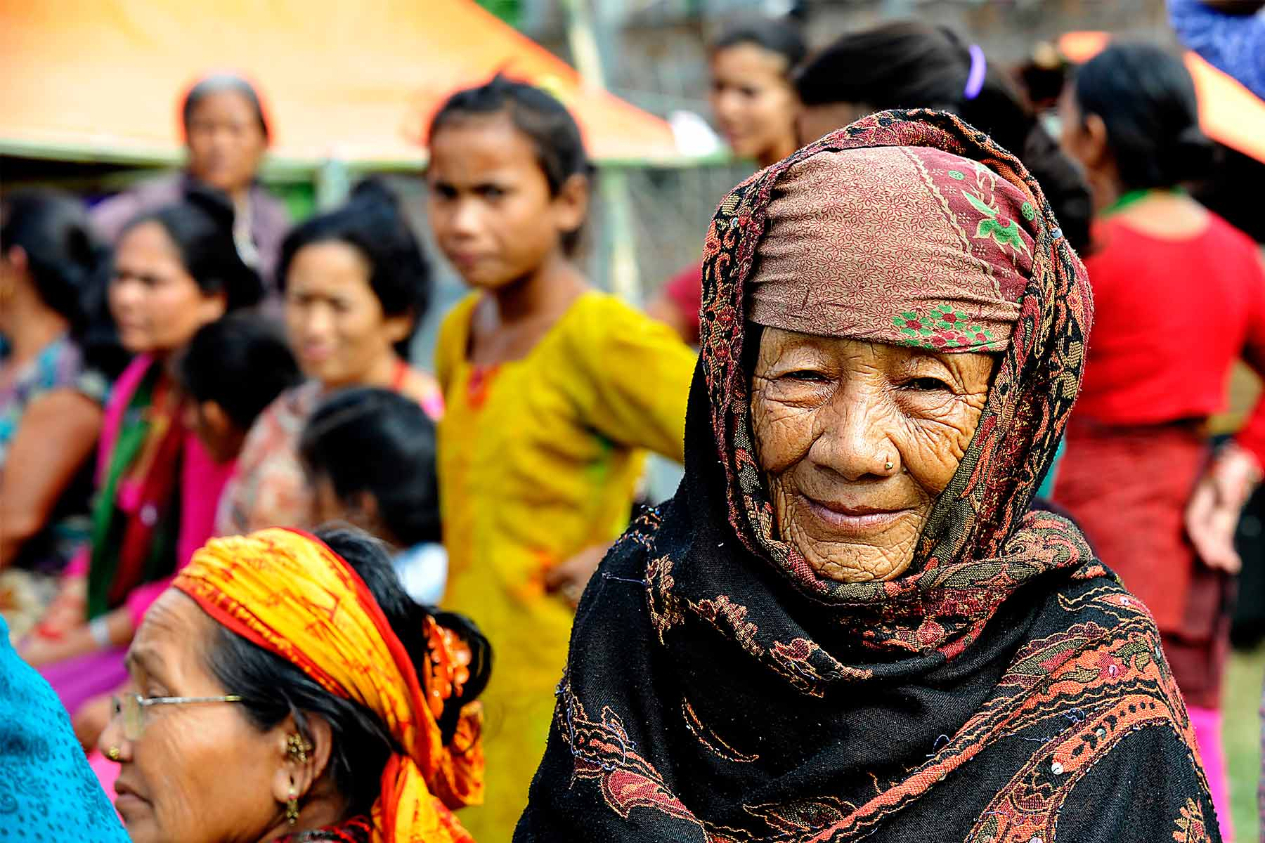 an Elderly Nepalese woman