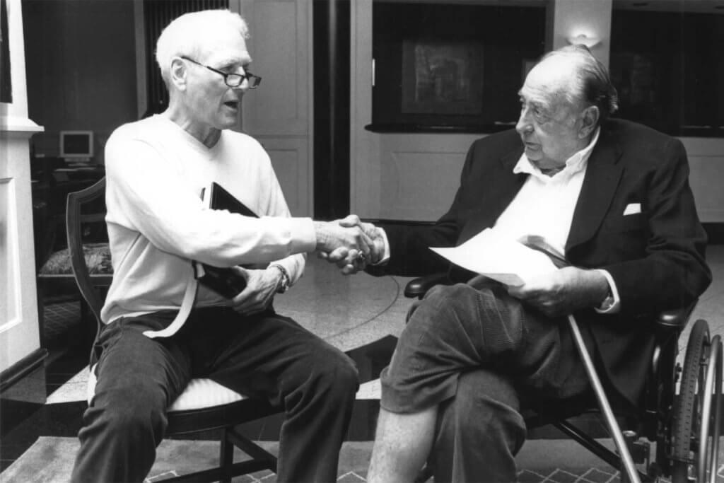 Bob Macauley meets with Paul Newman